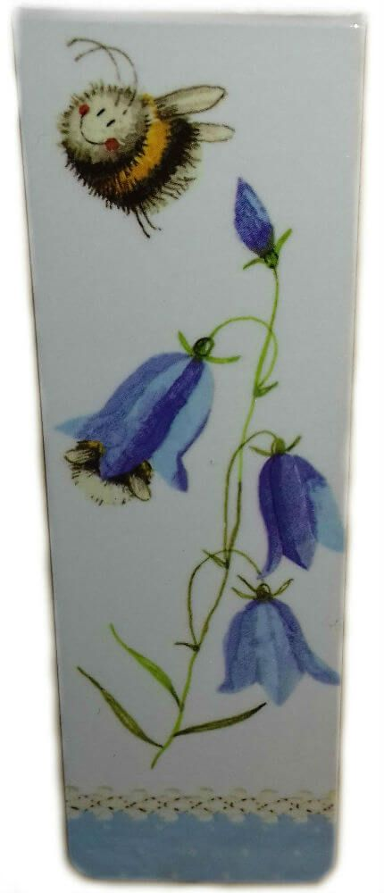 Bee and Harebell Magnetic Bookmark