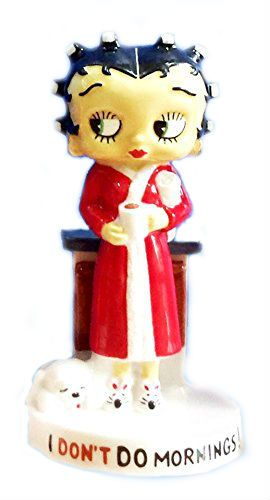 Betty Boop, I don't do Mornings, Ceramic Wade Miniature