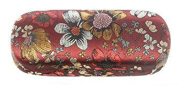 Floral Meadow Red Hard Glasses Case