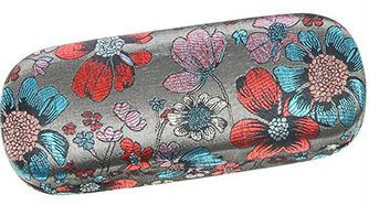 Floral Meadow Silver Hard Glasses Case