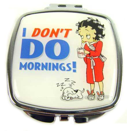 Mirror Compact, I Don't Do Mornings Betty Boop