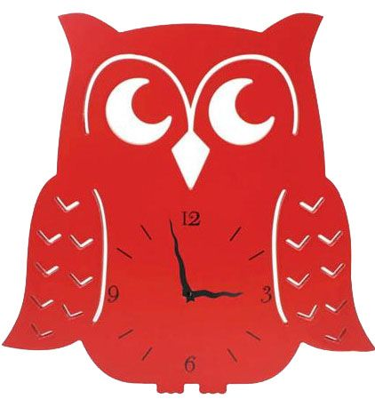 Splosh Red Owl Clock