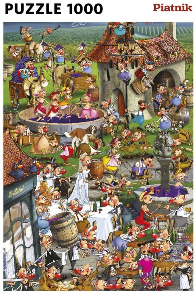 The Story of Wine by Francois Ruyer 1000 Piece Piatnik Jigsaw