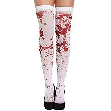White Bloody Hold Up Stockings Halloween